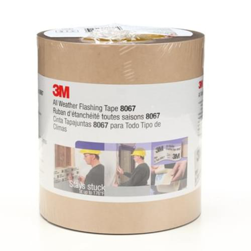 3M All Weather Flashing Tape 8067 Tan, 6 in x 75 ft Slit Liner