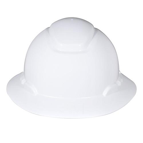 Hard Hat H-800 Series, Full Brim, H-801R, 4 PT Ratchet Suspension, White