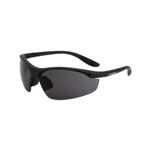 Talan Safety Glasses Matte Black Frame - Smoke Lens