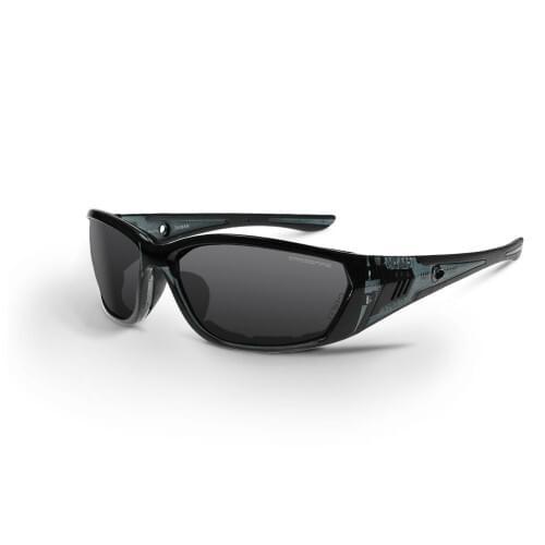 Crossfire 710 EVA, Smoke Anti-Fog Lens, Crystal Black Frame
