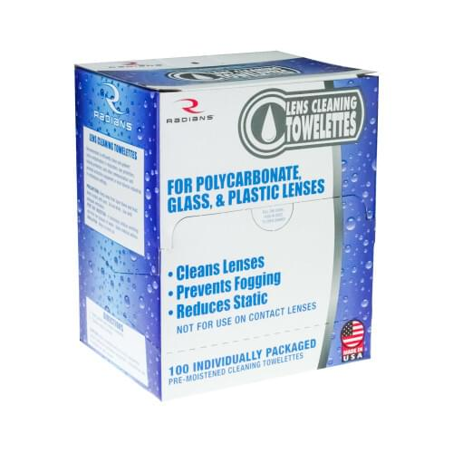 LCD100, Radians Lens Cleaning Wipes, BX of 100