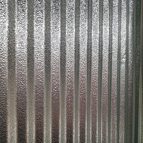 "Embossed Aluminum 1-1/4 corrugated sheets .020x33""x10'"