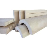 """Calcium Silicate Flat Block, Thermo-12 Gold, 2-1/2"""" X 12"""" X 36"""""""