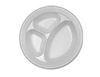 10.25 3 Compartment Foam Plate White 500/case