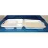 Vented 3-Compartment Hinged Foam Container 200/case