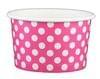 4oz Yogurt Paper Cup Pink Polka 1,000/case