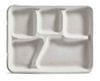 5 Compartment School Tray Molded Fiber 240/case