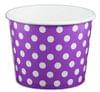 12oz Yogurt Paper Cup Purple with White Polka Dots 1,000/case