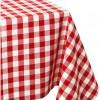 Red Gingham Check Vinyl Table Roll 45 Feet