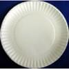 6'' Thin White Paper Plate 1000/case