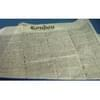12X16 Dry Wax Basket Liner, London Newspaper Print 4,000/Case