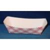 1/4lb Red/White Plaid Paper Food Trays 1,000/Case