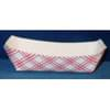 4lb 6oz Red/White Plaid Paper Food Trays 1,000/Case