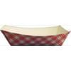 1lb Red/White Plaid Paper Food Trays 1,000/Case