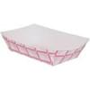 2lb Red/White Plaid Paper Food Trays 1,000/Case