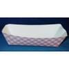 5lb Red/White Plaid Paper Food Trays 500/Case