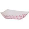 2.5lb Red/White Plaid Paper Food Trays 500/Case
