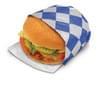 10.5X14 Foil Wrap Blue Check 4/500 2,000/case