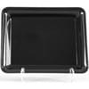8X10 Black Rectangle Tray 25/Case
