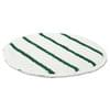 Low Profile Scrub-Strip Carpet Bonnet 21'' White/Green 5/case