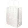 8x4x10 White Shopping Bag 250/Bundle