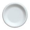 6'' White Foam Plate 1000/Case