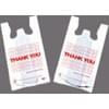 11.5x6.5x21 White Handled Thank You Plastic T-Shirt Bags 12Lb/Case