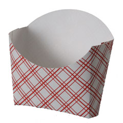 Red Plaid French Fry Holder