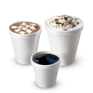 Carte Blanc Foam Cups (White)