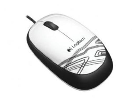Logitech Corded Mouse M105 Wht