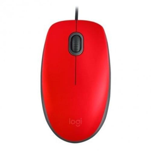 Logitech M110 Wired Mouse Red