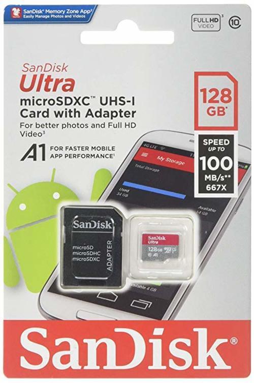 Sandisk 128GB mSDHC U1 A1
