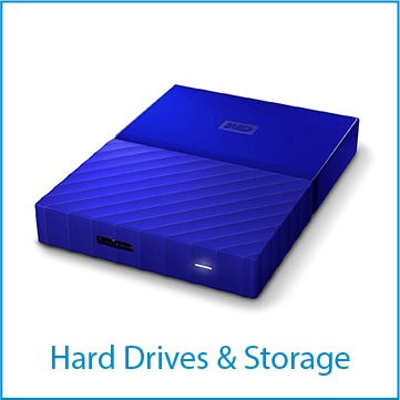 Hard drives and other storage media for computers.