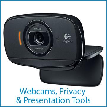 Webcams, screen filters, webcam shutters, laser pointers,