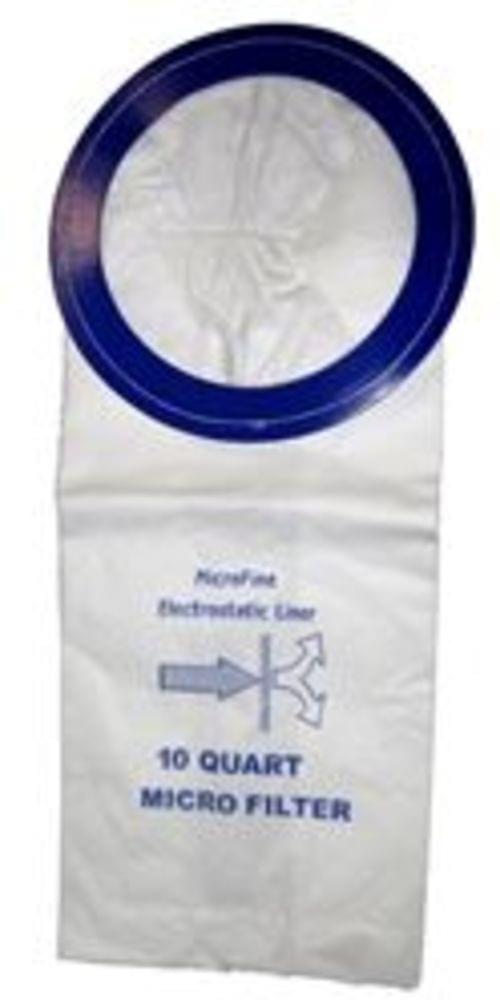 2 PLY 6 QUART BACKPACK MICRO-LINED FILTER BAGS. 10 BAGS/PACK.