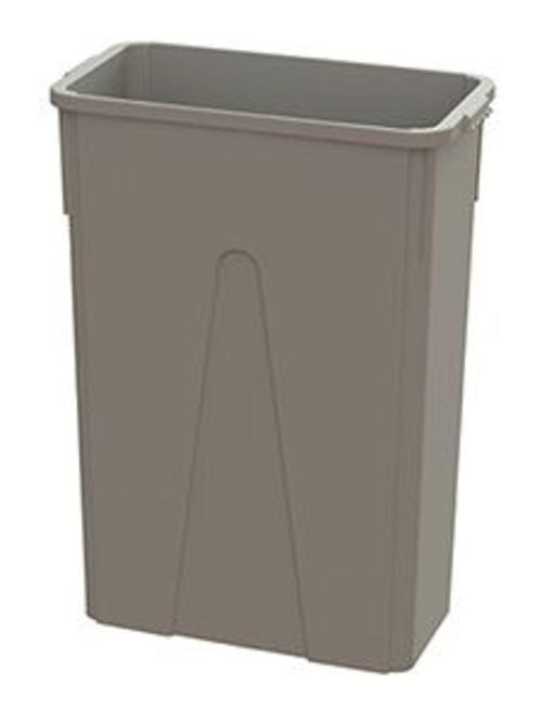 23 Gal MaxiRough Slim Container without lid, Tan