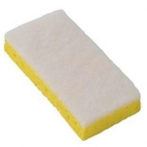 Light Duty Scrub Sponge, 3.25x6.25x1, Yellow/white, 4/10, 40/cs
