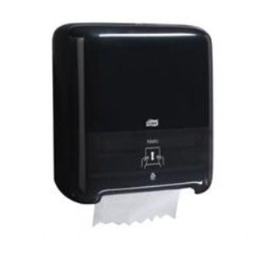 Wall Mount Roll Towel Dispenser, 13 1/4w x 8d x 14 3/4h, Black, one towel dispenser.