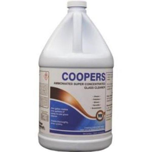 Coopers Concentrated Glass Cleaner, 4 Gal/Case