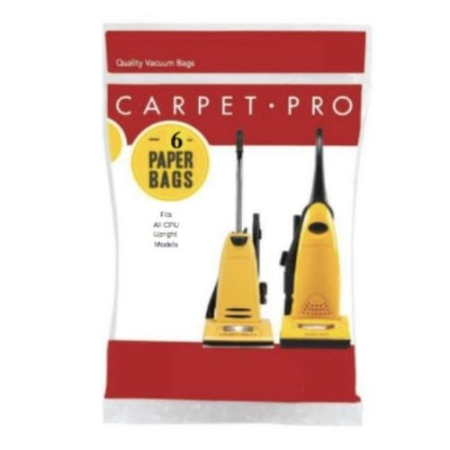 Bags for CP-CPU2 14 Inch Commercial Upright vacuum, 6/pk