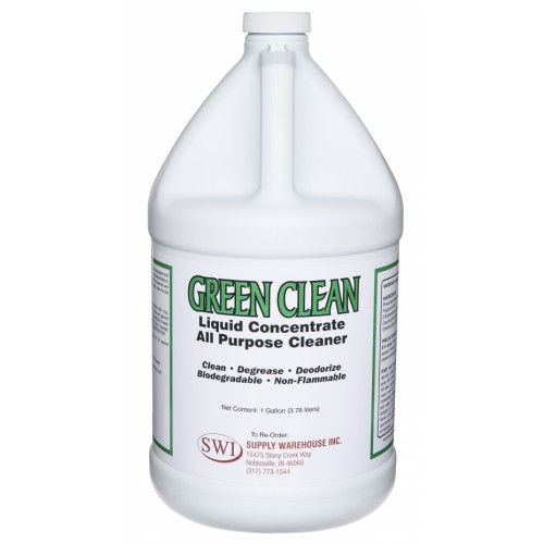 Express Green Clean, Industrial Cleaner and Degreaser, Concentrated, 4 Gallon Case