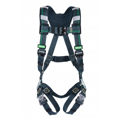 EVOTECH ARC flash harness, back and hip D rings, quick connect leg style, shoulder padding, standard size