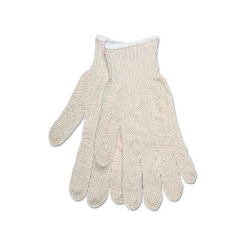 MEMPHIS GLOVE Multipurpose String Knit Gloves, Economy Weight, Natural, Large