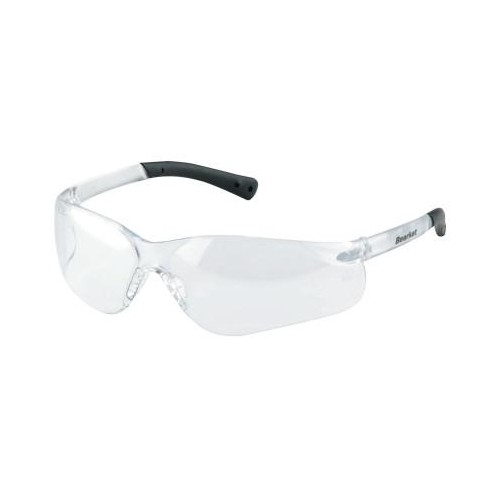 CREWS BearKat 3 Protective Eyewear, Clear Lens, Duramass, Black/Clear Frame