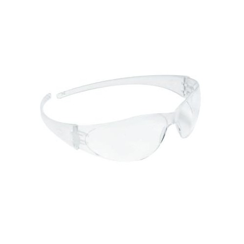 CREWS Checkmate Safety Glasses, Clear Lens, Polycarbonate, Anti-Scratch, Clear Frame