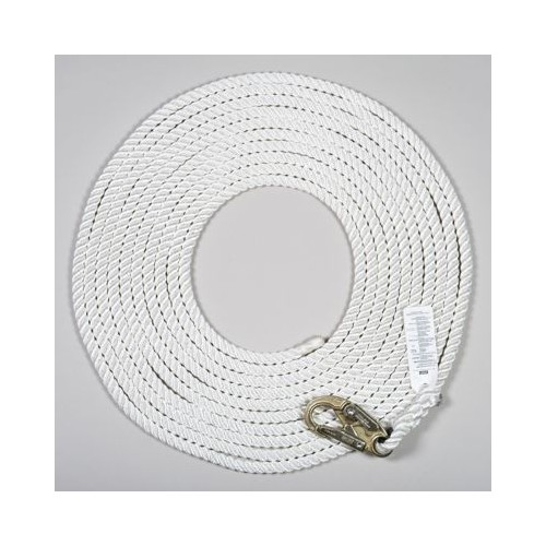 MSA Polyester Rope Vertical Lifeline with 36C snaphook, 50ft, ANSI