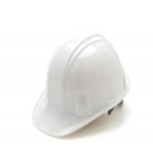 White Cap Style Hard Hat 6 Point Ratchet Suspension