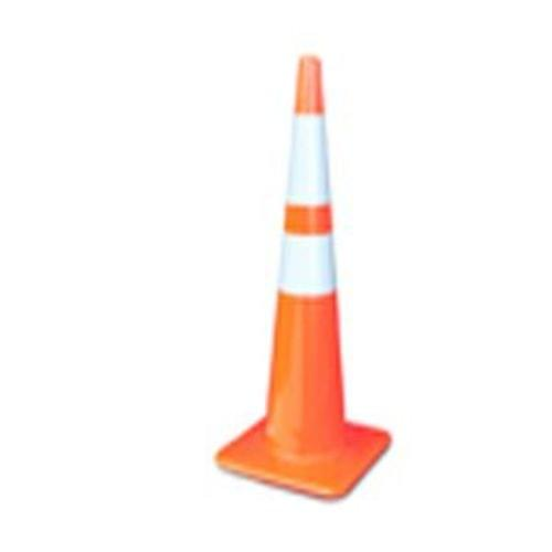 36'' Orange Traffic Cone 8lbs w/6'' & 4'' Reflective Collars