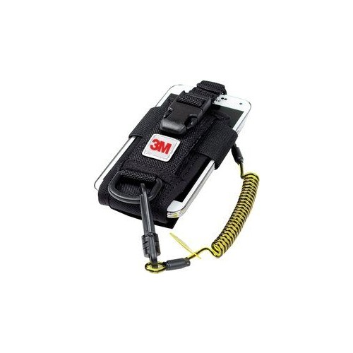 3M™ DBI-SALA® Adjustable Radio/Cell Phone Holster, Clip2Loop Coil Tether, Micro D-Ring