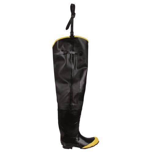 Cordova Rubber Boots, Hip, Steel-Toe, 12